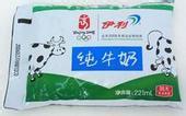 袋装牛奶包装成品效果