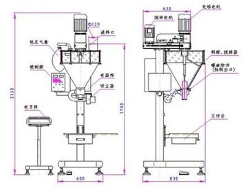 粉剂包装机设计图