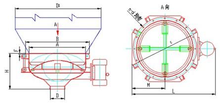 称重包装机料斗平面设计图