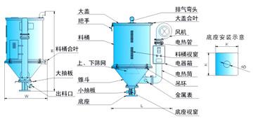 粉剂包装机料斗平面设计图解