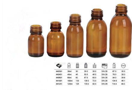 中瓶口服液盛装容器